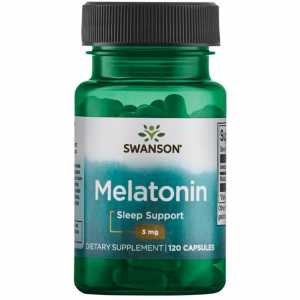 SWANSON Melatonina 3mg, 120kaps.